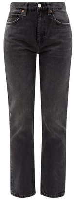 RE/DONE 70s High-rise Straight-leg Jeans - Dark Grey