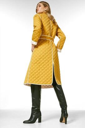Karen Millen Reversible Quilted Trench Coat