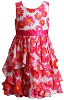 Dollie & Me Girls 4-6x Sleeveless Tiered Daisy Dress