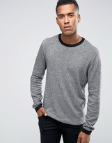 Jack and Jones Knitted Crew in Melange