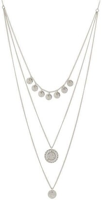 Pilgrim Arden Silver Plated Layered Necklace
