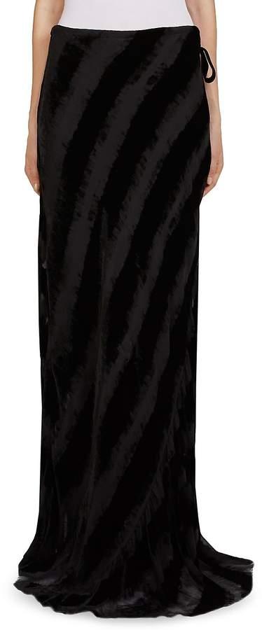Ann Demeulemeester Women's Velvet Maxi Skirt