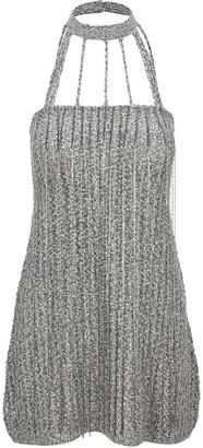 we11done We11 Done Braided Strap Mini Dress