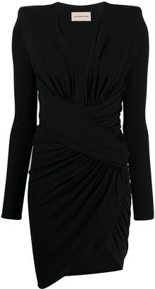 Alexandre Vauthier V-neck ruched dress