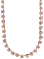Givenchy Rose Gold-Tone Silky Crystal Choker Necklace