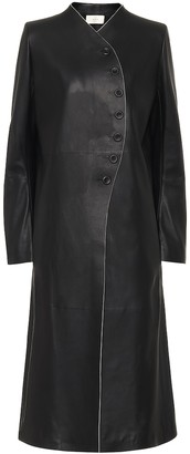 The Row Marion leather coat