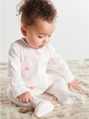 M&Co Bunny sleepsuit (Tinybaby-18mths)