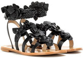 Tory Burch Blossom leather gladiator sandals
