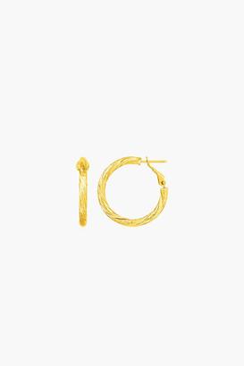 Ct Jewelry 14k Gold Petite Twisted Round Hoop Earrings