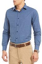 Hart Schaffner Marx Solid Heathered Flannel Long-Sleeve Sportshirt