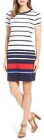 MICHAEL Michael Kors Petite Women's Stripe Ottoman T-Shirt Dress