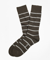 Brooks Brothers Merino Wool Stripe Crew Socks