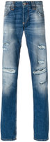 Philipp Plein distressed roll-up jeans - men - Cotton/Polyester - 30