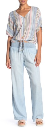 Cloth & Stone Smocked Wide Leg Pants