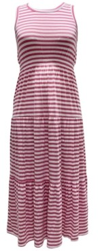 Style&Co. Style & Co Striped Sleeveless Maxi Dress, Created for Macy's