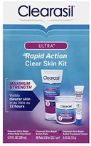 Clearasil Ultra Rapid Action Clear Skin Kit, 3 piece