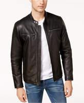Cole Haan Men's Genuine Leather Moto Jacket