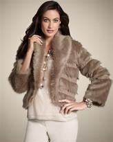 Chico's Fur Bolero Femi Jacket