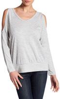 Bobeau Cold Shoulder Stripe Shirt