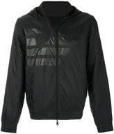 Armani Jeans logo print hood jacket