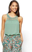 New York & Co. Crochet-Trim Shell