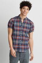 American Eagle Outfitters AE Short Sleeve Madras Plaid Shirt