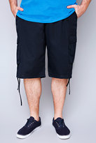 Yours Clothing NOIZ Navy Cotton Cargo Shorts With Pockets