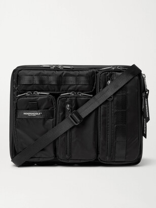 Indispensable Grosgrain-Trimmed ECONYL Laptop Case - Men - Black