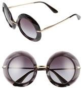 Dolce & Gabbana Women's 50Mm Round Sunglasses - Transparent Blue