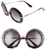 Dolce & Gabbana Women's 50Mm Round Sunglasses - Transparent Grey