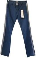 Jean Paul Gaultier Blue Cotton Jeans for Women