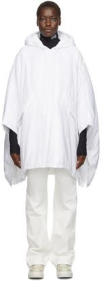 MM6 MAISON MARGIELA White Padded Hooded Poncho