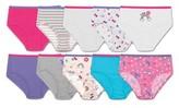 Hanes Girls Tagless Brief Underwear, 10 Pack Panties (Little Girls & Big Girls)