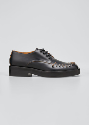 J.W.Anderson Stitch-Trim Leather Lace-Up Oxfords