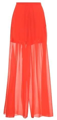 DELPOZO Wide-leg silk trousers