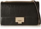 Jimmy Choo Rebel Textured-leather Shoulder Bag - Black