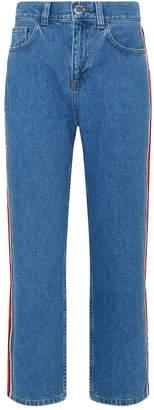Claudie Pierlot Side Stripe Straight Jeans