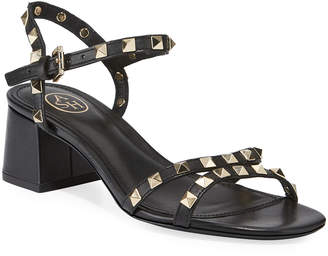 Ash Iggy Studded Leather Block-Heel Sandals