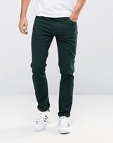 Farah Skinny Jeans In Green Stretch Twill