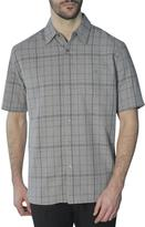 Haggar Men's Short Sleeve Microfibre Marled Plaid Shirt