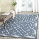 Safavieh Courtyard Indoor/Outdoor Blue/Beige Area Rug Rug