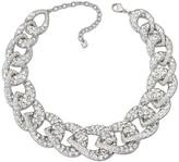 Swarovski Tabloid Necklace, White, Rhodium plating