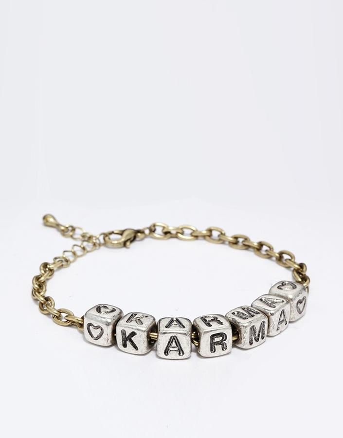Asos Karma Bead Bracelet