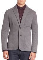 Z Zegna Cotton Blend Single-Breasted Jacket