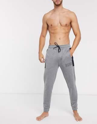 BOSS bodywear Contemporary cuffed joggers in grey