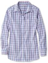 L.L. Bean Wrinkle-Free Pinpoint Oxford Tunic, Long-Sleeve Slightly Fitted Gingham