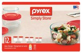 Pyrex 12pc Food Storage Container Set Red