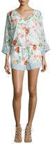 Joie Kiora Floral Silk Georgette Jumpsuit, Porcelain