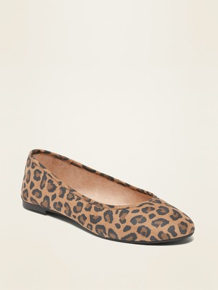 Old Navy Faux-Suede Almond-Toe Ballet Flats for Women