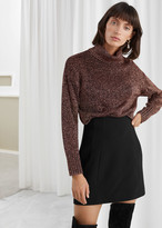 And other stories Structured High Waisted Mini Skirt